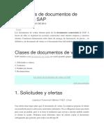 Las Clases de Documentos de Ventas en SAP