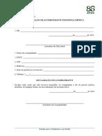 Formulário de Solicitação de Acompanhante