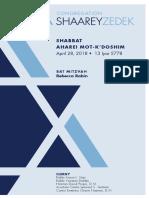 April 28, 2018 Shabbat Card