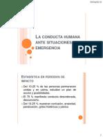 La Conducta Humana Ante Situaciones de Emergencia PARTE II