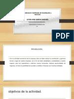 Evidencia 8 # Certificado de Construccion y Gerencia