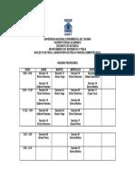 Horario Profesores.laboratorio Física II.0842303l Semestre 2018-2