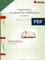 Presentacion de Asignatura Instalaciones Hidráulicas_modulo 2-19-03_2018