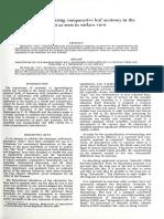 A Procedure for Standardizing Comparative Leaf Ana