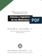 W. CALLISTER Introduccion a La Ciencia de Los Materiales