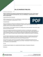 AFIP - Resolución General 4223 - Recategorización de Oficio