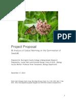 monarch milkweed project proposal