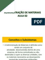 Administração de Materiais Aula 02