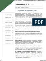 Programa de Auditoria – Cobit