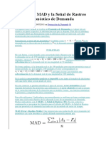 Cálculo Del MAD y La Señal de Rastreo Para Un Pronóstico de Demanda