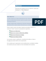 SAP PP - Datos Maestros