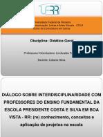 Slide Didática Interdisciplinar