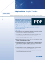 Gartner Debunking Myth of Single Vendor Network