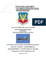 U.S. Air Force Aircraft Accident Investigation Board Report