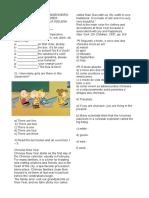 avaliação inglês - 1ºano Ensino Médio.odt