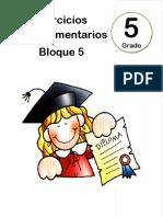 5to Grado - Bloque 5 - Ejercicios Complementarios