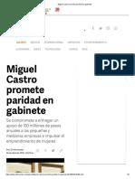 27-04-18 Miguel Castro promete paridad en gabinete