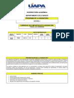 Programa de Español i 23 11 2017 Trimestral