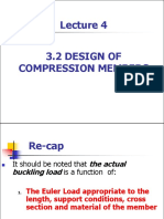 Lecture 4-2 -Design of Compression Members