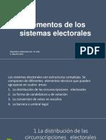 Elementos de Los Sistemas Electorales