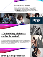 Diapositivas de Violencia de La Mujer