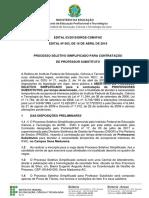 Arquivos Edital Professor Substituto 2018