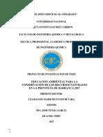 Educacion Ambiental y Conservacion de Los Rn
