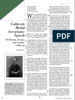 flotsam  2007  caldecott medal speech