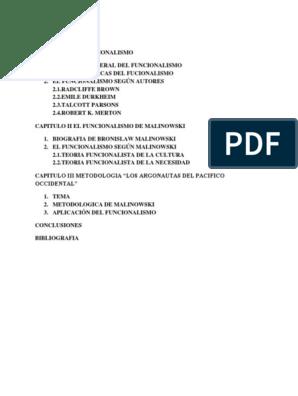 Capitulo I El Funcionalismo Epistemología Ciencia
