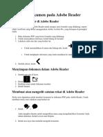 Mengedit File Pada Adobe Reader