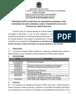 001 Programa Institucional BAC Edital Nº 009 de 2018