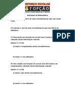Atividade de Matemática Comprimento de Circunferencia 8