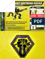 Malcontents Support Destroid Squad Support Card for Robotech RPG Tactics