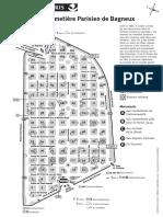 Plan du Cimetière Parisien de Bagneux (extramuros)