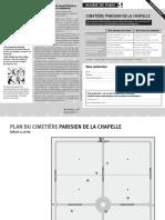 PLAN DU CIMETIÈRE PARISIEN DE LA CHAPELLE (extramuros)