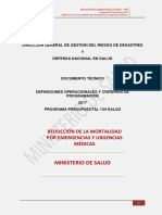 Definiciones Operacionales Ppr 104 2017, Version i
