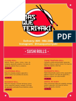Mas que teriyaki menu