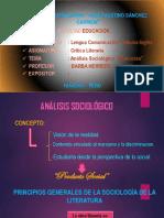ANÁLISIS SOCIÓLOGICO