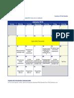 Excel 2018 Calendar