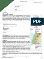 Mount Hermon - Wikipedia
