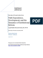 PRADO, Mariana Mota; TREBILCOCK, Michael . Path Dependence