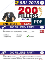 English 200 Fillers Part 1