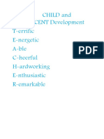 Child and Adolescent Development (1)