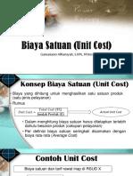 Biaya Satuan (Unit Cost)
