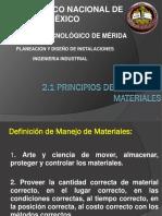 2.1 Principios de Manejo de Materiales