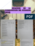 La educación en la constitución del Ecuador (2018)
