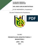 Silabus de Presentacion y Maqueteria I 2017