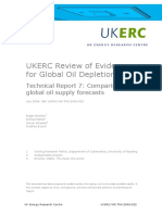 UKERC Review of Evidence for Global Oil Depletion_ Technical Report 7_ Comparison of Global Oil Supply Forecasts