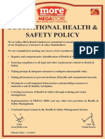 A3 Quality Policy OHS Policy Eng