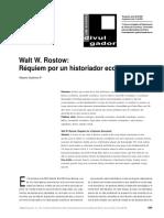 Walt W. Rostow__ Réquiem Por Un Historiador Económico
